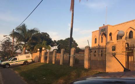 FILE: Police outside at the Imam Hussain Mosque near Verulam following an attack on the complex. Picture: Ziyanda Ngcobo/EWN