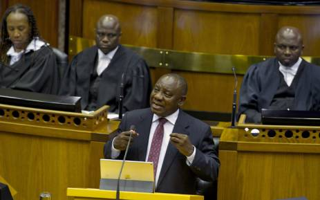 FILE: President Cyril Ramaphosa replies to the debate on the State of the Nation Address in Parliament. Picture: GCIS