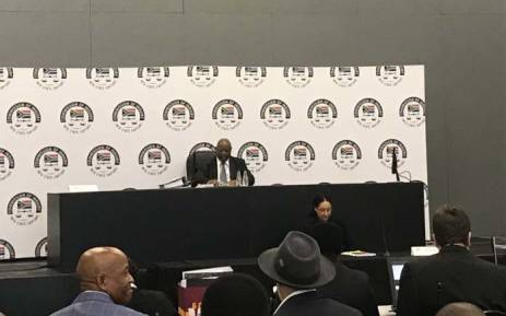 Deputy Chief Justice Raymond Zondo at proceedings of the commission of inquiry into state capture in Parktown. Picture: Thando Kubheka/EWN