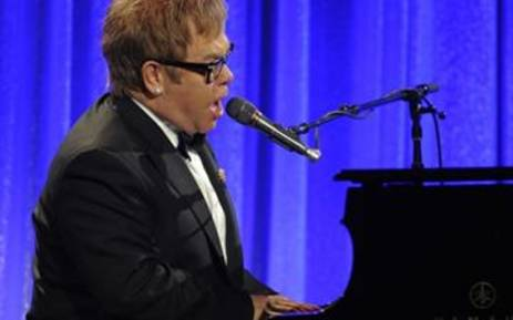 Sir Elton John performs during An Enduring Vision, the 9th Annual benefit for the Elton John Aids Foundation at the Cipriani Wall Street. Picture: AFP.