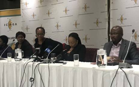 Icasa briefing the media about its new regulations governing the rules on mobile data expiry and out-of-bundle billing in Sandton, Johannesburg. Picture: EWN.