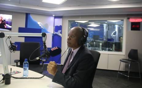 Johannesburg Mayor Herman Mashaba during an interview on Talk Radio 702. Picture: Refilwe Pitjeng/EWN.