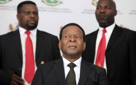 FILE: Zulu King Goodwill Zwelithini looks on prior to delivering a speech during a traditional gathering called Imbizo at the Moses Mabhida Football Stadium in Durban on 20 April 2015. Picture: AFP.