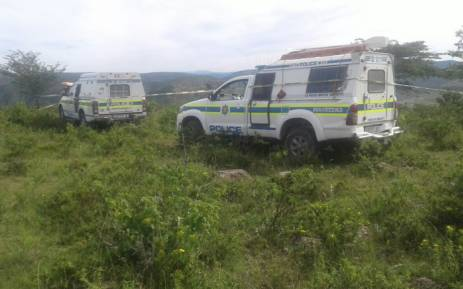 Eastern Cape police at the crime scene. Picture: SAPS.