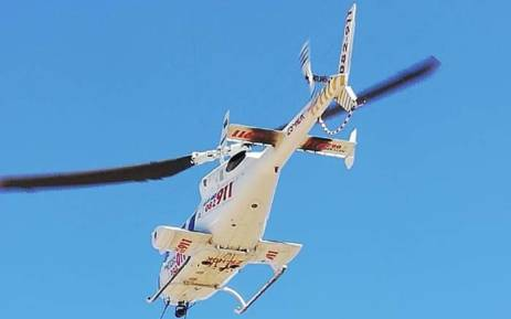 A 51-year-old cyclist was airlifted to a hospital after being shot during a suspected robbery in Krugersdorp. Picture: Netcare911.