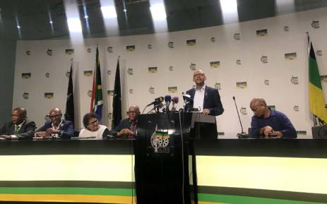 ANC secretary-general Ace Magashule addressing the media about the appointment of six of its leaders at Luthuli House. Picture: Clement Manyathela/EWN