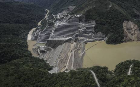 A general view of the dam of the Hydroituango Hydroelctric Project, on the Cauca River, near Ituango municipality, Antioquia department, Colombia. Picture: AFP
