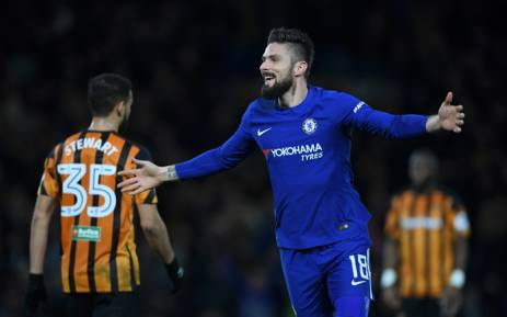 Olivier Giroud will hope to be on the scoreboard to help Chelsea get Champions League football next season. Picture: @ChelseaFC/Twitter.