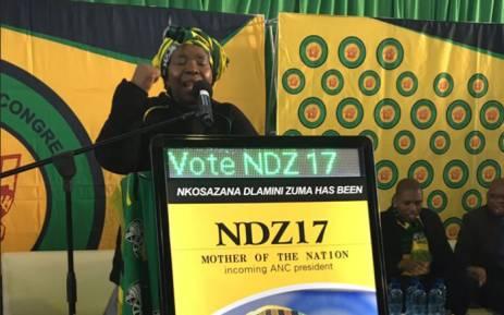 FILE: Nkosazana Dlamini-Zuma addressing the crowd in Kwaximba in KwaZulu Natal on 18 August 2017. Picture: Ziyanda Ngcobo/EWN
