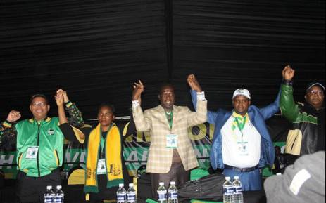 Stan Mathabatha (far left) has been re-elected as the ANC chairperson in Limpopo. The party elected a new provincial leadership during its conference. Picture: @ANCLimpopo/Twitter