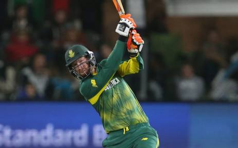 The Proteas' Heinrich Klaasen swings away at the opposition bowlers. Picture: @OfficialCSA/Twitter