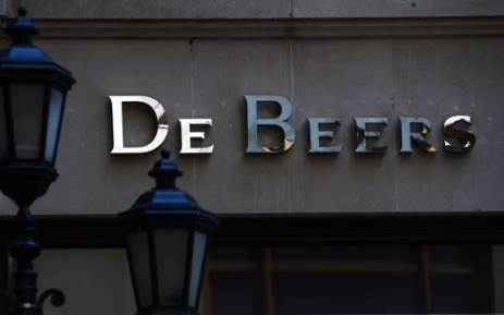 A logo of De Beers in New York in 2013. Picture: AFP.