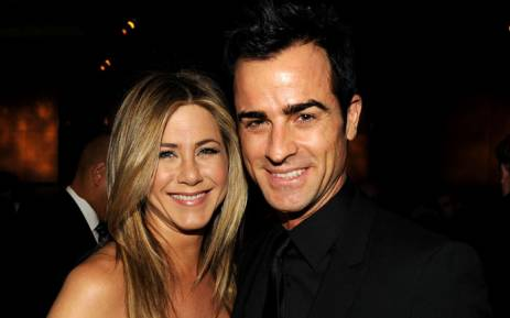 Jennifer Aniston and Justin Theroux attend the 64th Annual Directors Guild Of America Awards in January 2012. Picture: AFP.