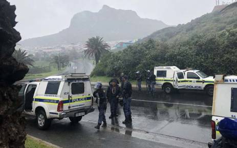 Police monitor the situation in Hout Bay after violent protests by residents on 12 June 2018. Picture: Graig-Lee Smith/EWN