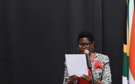 FILE: Minister of State Security, Dipuo Letsatsi-Duba, takes oath of office during the swearing-in ceremony of the new National Executive at the Tuynhuis in Cape Town on 27 February 2018. Picture: GCIS.