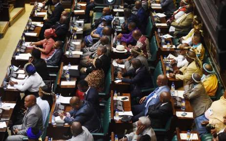 Dignitaries and guests attending the debate in the National House of Traditional Leaders in Parliament. Picture: GCIS