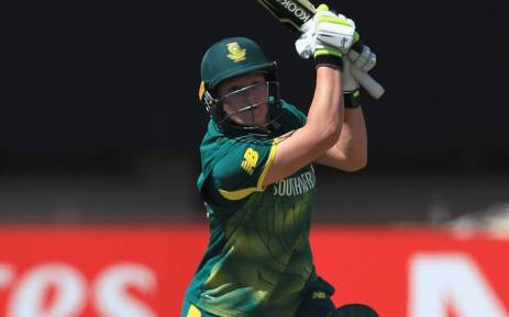 South Africa's Lizette Lee gets the runs on her way to 118 against England on 12 June 2018. Picture: @OfficialCSA/Twitter