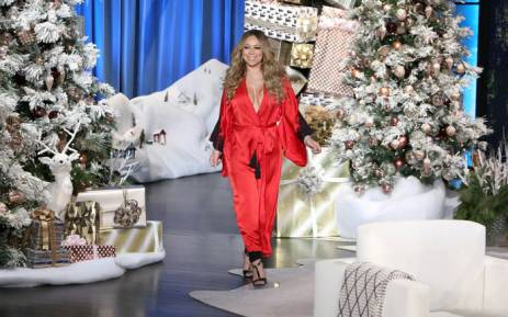 A screengrab of Mariah Carey during her appearance on The Ellen DeGeneres Show. Picture: Twitter/@MariahCarey.