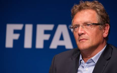 FILE: Former Fifa secretary general Jerome Valcke at a press conference after a meeting of the organisation's executive committee in September 2014. Picture: AFP.