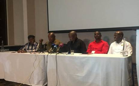 Opposition parties met on Friday 2 February 2018 to discuss their bid to have President Jacob Zuma removed. Picture: Clement Manyathela/EWN