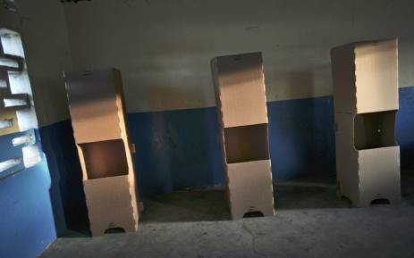 Picture of voting booths during presidential and provincial elections in the Democratic Republic of the Congo. Picture: United Nations Photo.