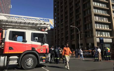 Some roads were closed in Johannesburg as a memorial service took place on 12 September 2018, for three firefighters who lost their lives during a blaze in the CBD. Picture: Christa Eybers/EWN