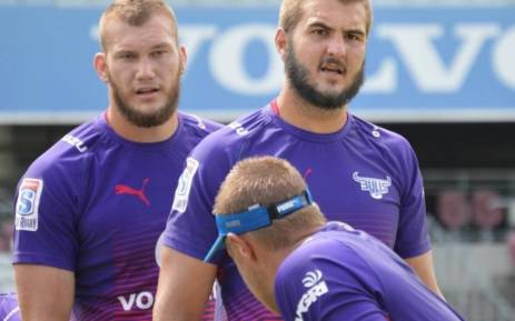 Bulls lock Lood de Jager (right). Picture: Twitter/@BlueBullsRugby