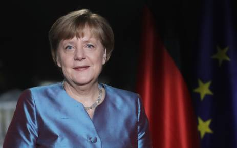FILE: German Chancellor Angela Merkel poses for a photograph after the recording of her annual New Year's speech at the Chancellery in Berlin on 30 December 2016. Picture: AFP.