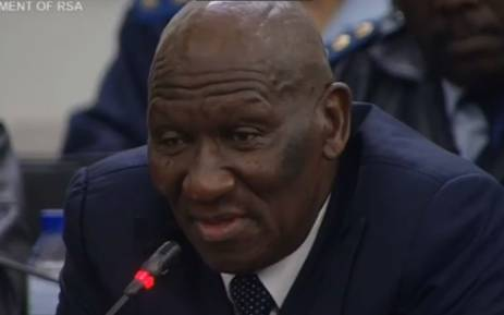 A screengrab of Police Minister Bheki Cele releasing the 2018 crime stats on 11 September 2018.