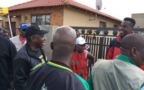 President Cyril Ramaphosa pictured at the Hitekani Primary School in Soweto, on 10 March 2018. Picture: Pelane Phakgadi/EWN.