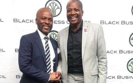 BBC CEO Kganki Matabane welcomes the newly-elected president of the council, Sandile Zungu. Picture: @KgankiMatabane/Twitter