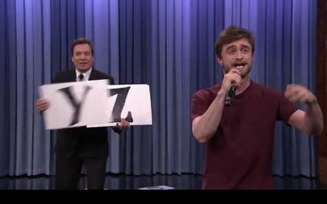 Who knew daniel radcliffe was a magical rapper daniel radcliffe rapping on jimmy fallon picture youtube urtaz Image collections