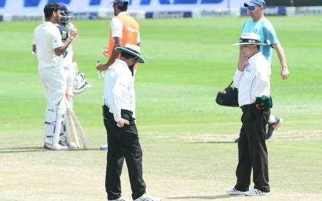 The umpires suspended play on day 3 after deeming the pitch was unsafe to play. Picture: Twitter/@OfficialCSA