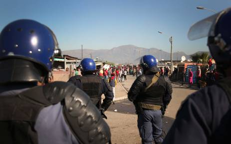 Residents from Phumlani Village protested against the lack of housing and poor service delivery. Picture: Bertram Malgas