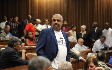 Ahmed Timol's nephew Imtiaz Cajee in the Pretoria High Court on 12 October 2017. Picture: Christa Eybers/EWN