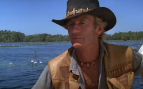 A screengrab of Australian actor Paul Hogan from the 'Crocodile Dundee' film. Picture: YouTube