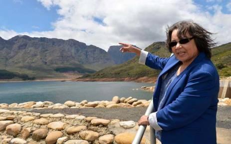 Cape Town Mayor Patricia de Lille visiting Wemmershoek Dam. Picture: Facebook.com.
