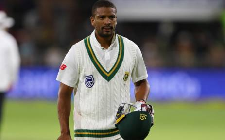 South Africa's Vernon Philander reacts after being dismissed in the first Test against Australia. Picture: @OfficialCSA/Twitter
