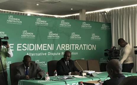 Retired deputy Chief Justice Dikgang Moseneke seen during the second day of the arbitration process into the Esidimeni tragedy in which 118 patients died. Picture: Masego Rahlaga/EWN
