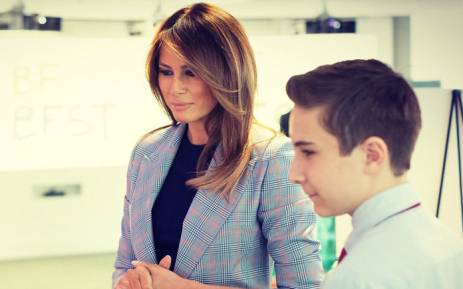 US First Lady Melania Trump. Picture: @FLOTUS/Twitter