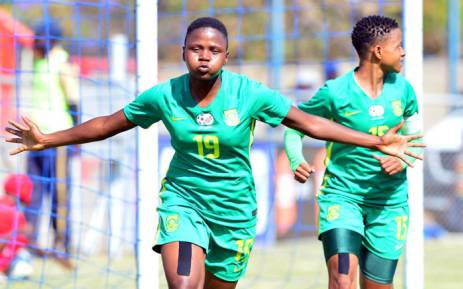 Banyana Banyana star Refiloe Jane and Rhoda Mulaudzi have signed for Australian side Canberra United. Picture: Twitter/@BafanaBafana