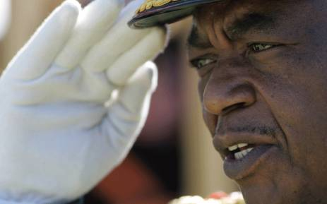 FILE: Zimbabwe's Army Commander General Constantine Chiwenga is pictured during the country's 28 years Independence celebration in Harare on 18 April 2008. Picture: AFP