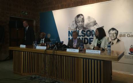 """Microsoft founder Bill Gates delivered the Annual Nelson Mandela Lecture, titled """"Living Together"""", at the University of Pretoria in Mamelodi. Picture: Alex Eliseev/EWN."""