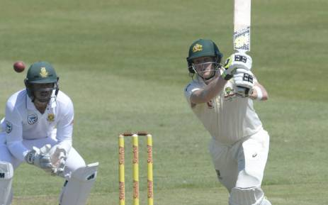 Australia's Steve Smith plays a shot. Picture: @OfficialCSA/Twitter