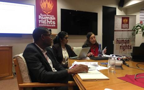 SAHRC leadership presenting the inequality report on 12 July 2018. Picture: Kgomotso Modise/EWN.