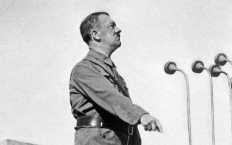 German Nazi Chancellor Adolf Hitler (1889-1945) gives a speech in 1937 in an unidentified place. Picture: AFP