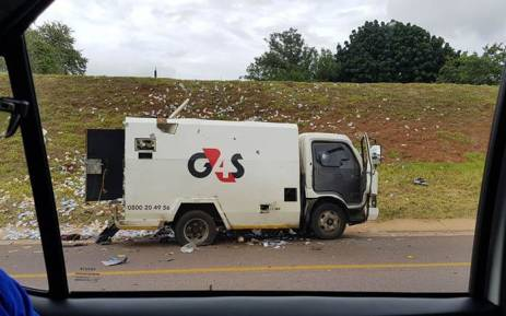 FILE: A cash-in-transit following a heist on the N4 near Akasia. Picture: Supplied