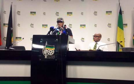 Fikile Mbalula briefing the media on 7 December 2017. Picture: Twitter/@GautengANC