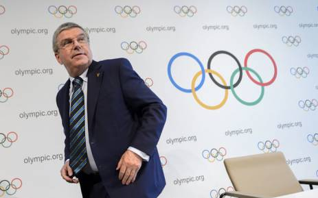This file photo taken on 21  June 2016 shows International Olympic Committee (IOC) president Thomas Bach leaving a press conference following an Olympic summit in Lausanne. Picture: Fabrice Coffrini/AFP.