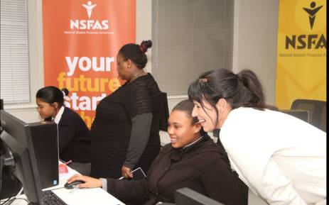 Learners testing the NSFAS online application system. Picture: Supplied.